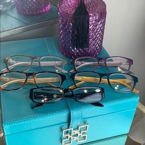 Bundle of 5 Joy Mangano Reading Glasses +1.00